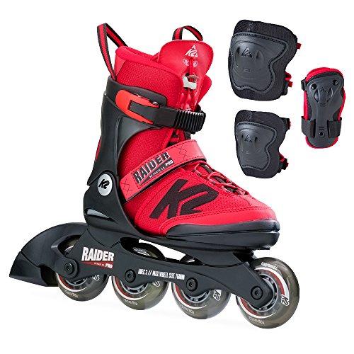 K2 Kinder Inline Skate Raider Pro Pack Inlineskate, Rot, 35 -