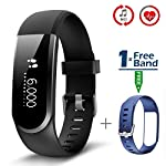 CHEREEKI Fitness Tracker Upgraded Fitness Trackers With Heart Rate Monitor And Full Touch Screen IP67 Waterproof Activity Tracker Smartwatch Sleep Monitor Notificate And Read Full Message Of SMS Whats