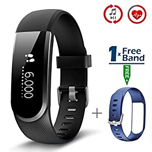 CHEREEKI Fitness Tracker, Upgraded Fitness Trackers with Heart Rate Monitor IP67 Waterproof Activity Tracker