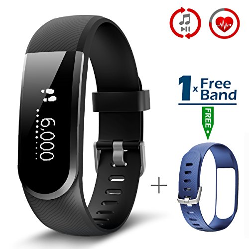 CHEREEKI Fitness Tracker, Upgraded Fitness Trackers with Heart Rate Monitor and Full Touch Screen IP67 Waterproof Activity Tracker Smartwatch, Sleep Monitor, Notificate and Read Full Message of SMS, WhatsApp, Facebook, Twitter, WeChat and etc, For Android and iOS