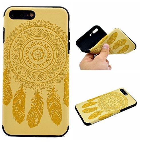 Apple iPhone 7 Plus 5.5 Hülle, Voguecase Schutzhülle / Case / Cover / Hülle / TPU Gel Skin (Datura Blumen/Rosa) + Gratis Universal Eingabestift Campanula Blume/Gelb