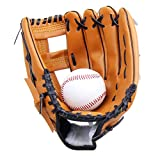 Yiiquan Unisex Gant de Baseball Cuir Outfield Softball Glove Plus Épais pour Enfants Adulte (Marron, Asia M)