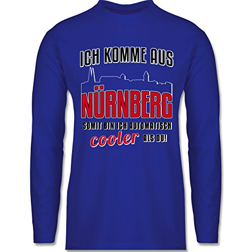 Shirtracer Städte - Ich Komme Aus Nürnberg - Herren Langarmshirt Royalblau