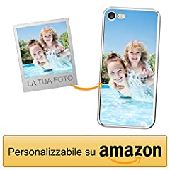 Idea Regalo - Coverpersonalizzate.it Cover Personalizzata per Apple iPhone 7/8 con la Tua Foto, Immagine o Scritta - Custodia Morbida in TPU Gel Trasparente - Stampa di altissima qualità