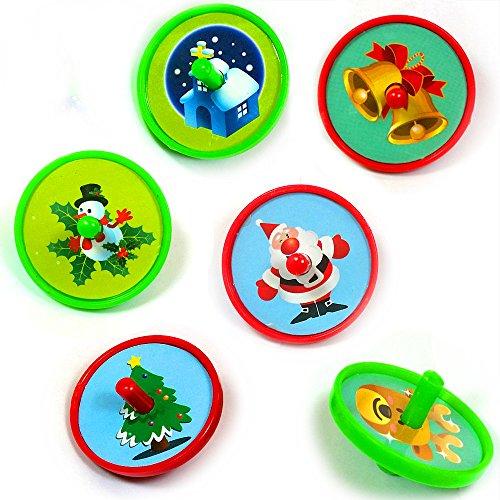 German Trendseller® - 6 x Kreisel Weihnachten ┃ Mitgebsel ┃ Kinder ┃ Weihnachts Motive ┃ 6 (Uk Bilderbuch Figur Kostüme)