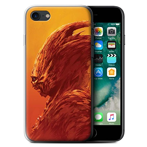 Offiziell Chris Cold Hülle / Gel TPU Case für Apple iPhone 7 / Ungeheuer/Troll Muster / Wilden Kreaturen Kollektion Raubtier/Jäger