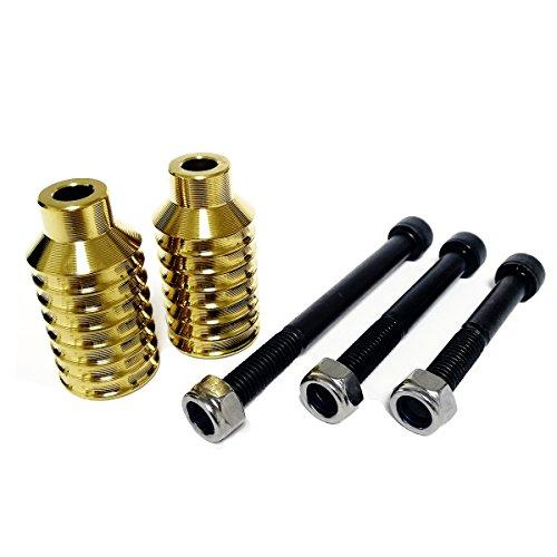 Profi-Scooter-Stifte, CNC-Aluminium-Stifte für Stunt-Scooter mit Hardware, goldfarben