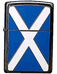 Zippo Scotland Flag Emblem - Kits de superviviencia, color plateado