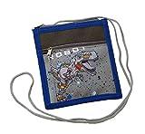 Brustbeutel für Kinder mit ROBOT Motiv von STEFANO dunkelblau
