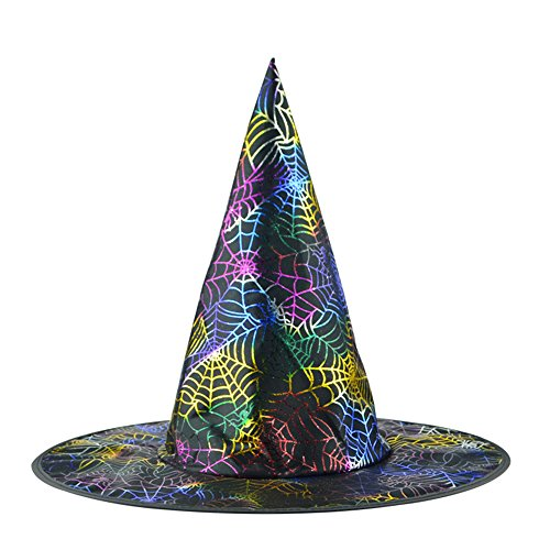 Erwachsene Hexen Hut Halloween Kostüm Zubehörteil, Multi-Muster (Ziemlich Cool Halloween Kostüme)