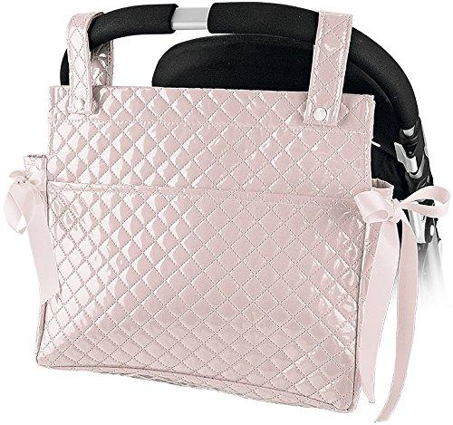 Danielstore- Bolso Talega Lactancia Plastificada para carro- capazo bebe- Color rosa