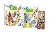 Ravensburger  tiptoi Bücher Set Schule - Lern mit mir - Deutsch 2. Klasse und Mathe 2. Klasse / Rechnen, Mathematik + Minions Sticker