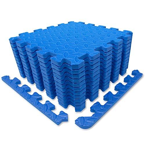 diMio 30x30cm Sport-Schutzmatten Set - 12 Puzzlematten inkl. Randstücke ergibt ca. 1.1qm...