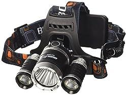 XCSOURCE LED Stirnlampe 3x CREE T6 Fahrad Front LED Scheinwerfer Super Helle Motorrad LED Kopflampe Camping Hiking Licht Mit 2Stk Batterie (18650) Wiederaufladbare Batterie Ideal f¨¹r Camping, Wandern, Radfahren, Outdoor Aktivit?ten LD363
