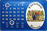 Ewiger Kalender Freistaat Bayern geprägt 20x30 cm Blechschild 1846