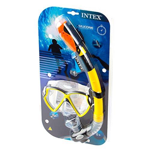 Intex Taucherset Bestehend Tauchermaske Aviator Pro Phtalates Free, 55960 -
