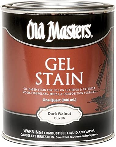 Old Masters 24991 80704 Gel Stain, Dark Walnut, 1 quart by Old Masters