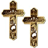 #10: Incredible Gifts India Engraved On Wood - The Story Of Jesus Christ (Set Of 2) For Christmas