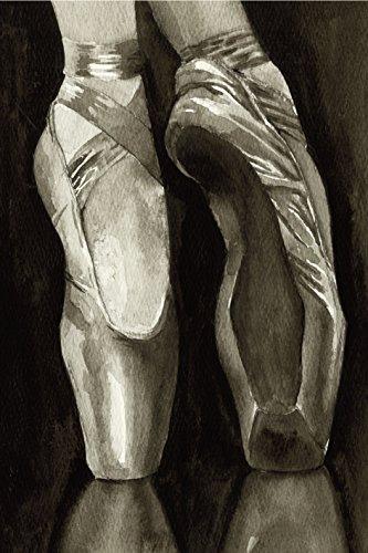 Artland Qualitätsbilder I Bild auf Leinwand Leinwandbilder Wandbilder 20 x 30 cm Sport Funsport Tanzen Malerei Schwarz C2NT Balletschuhe I