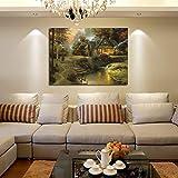 Ölgemälde auf Leinwand, Wanddekoration Schlafzimmer Wohnzimmer Hintergrund Villa Art Wandgemälde, Landlandschaft 30x40cm Rahmenlos