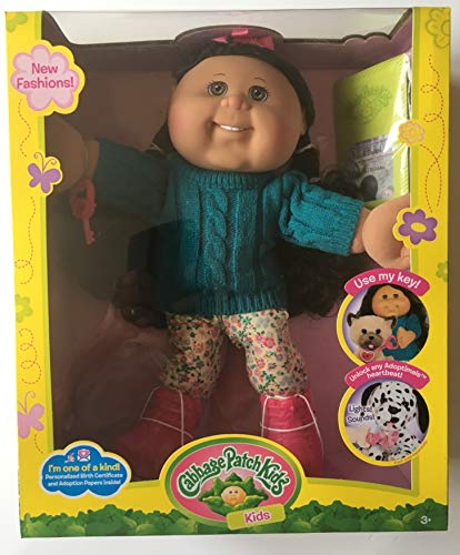 Cabbage Patch - Muñeca adoptimal para niños (35,6 cm), Color Negro y marrón