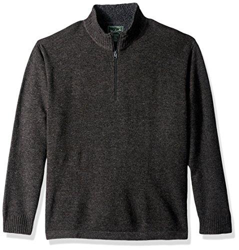 Woolrich Herren Rocky Oaks Lambswool Half Zip Sweater Pullover, anthrazit, Klein -