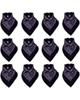 Lot de 12 Bandanas avec motif Paisley original | Couleur au choix