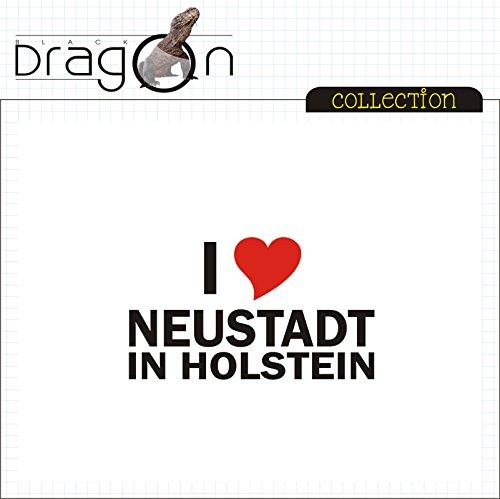 T-Shirt - i Love Neustadt in Holstein - Herren - unisex Weiß