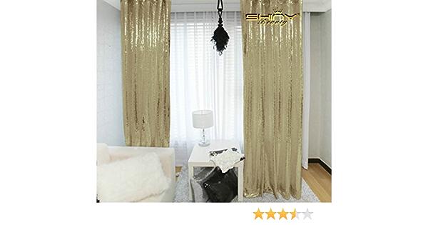 Shinybeauty 2ftx7ft Mattgold Pailletten Kulissen Vorhang Für Ihre Hausdekoration 60x215cm