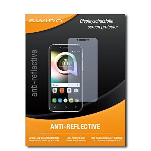 SWIDO Schutzfolie für Alcatel Shine Lite [2 Stück] Anti-Reflex MATT Entspiegelnd, Hoher Härtegrad, Schutz vor Kratzer/Bildschirmschutz, Bildschirmschutzfolie, Panzerglas-Folie