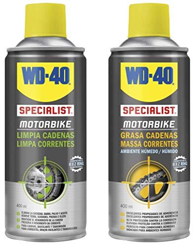 WD-40 Specialist Motorbike - Lote para cuidado y mantenimiento de cadena moto...