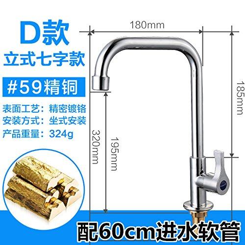 D1-licht-bad (STAZSX Europäische Armaturen für warme und kalte Küche und Bad Bad WC oben Zähler Waschbecken Toilette Waschbecken Wasserhahn indoor Waschtischarmaturen, D1 Kupfer)