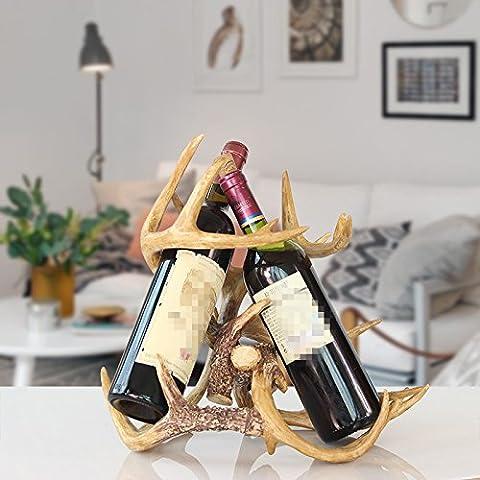 XOYOYO Amerikanische Nordic Geweih Wine Rack Wohnzimmer Tv Cabinet Cabinet Dekoration Kreative Persönlichkeit Heimtextilien Desktop Dekoration