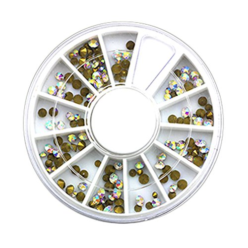 4 boîtes de Colorful strass bricolage Nail Art Diamant