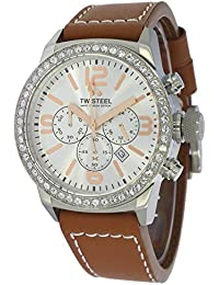TW Steel Marc Coblen Edition Chrono mit Lederband 42 MM Silver/Brown MCPR5