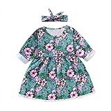 JUTOO 2019 Toddler Kids Baby Girls Princess Dot Vestido de Conejo de Dibujos Animados Vestido de Ropa de algodón