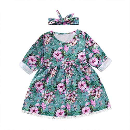 sunnymi 1-5 Jahre Blumen Spitzenkleid Kinder Mädchen Prinzessin Kostüme Party Tutu Kleider
