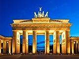 wandmotiv24 Fototapete Vliestapete Brandenburger Tor Architektur KT175 Größe: 350x260cm Berlin Wiedervereinigung Tapete Deutschland