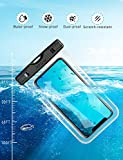 Mpow Waterproof Phone Case, IPX8 Waterproof Phone Pouch Dry Bag with Portable Lanyard for iPhone XS/XS Max/XR/X Galaxy S10/S9/S8 up to 6.5, Perfect for Beach, Hiking, Travel 2 Pack
