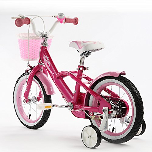 R BABY MERMAID STYLE PRINCESS PINK GRIL'S BIKES IN SIZE 12″ + Adjustable removable stabilisers+ front pink basket. (MERMAID_12″)