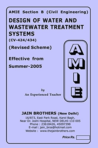 AMIE Design of water & Water Treatment systems CV-424 and 434 Solved Paper