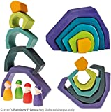Grimm's Toys Elements Nesting Blocks Earth, Large