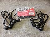 30 Black Ball Bungee elasticated shock cord bungees tarpaulins tent strap