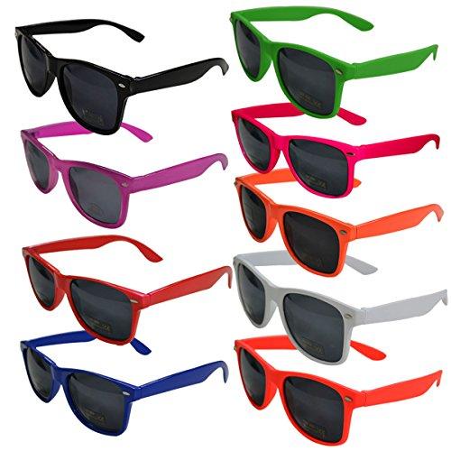 Sonnenbrille Nerd Sunglasses klassische Atzenbrille Partybrille Unisex Oculus Fashion 2015/2016 (Blau)