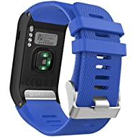 MoKo vívoactive HR Sport Armband - Silikon Ersatz-Uhrenarmband Uhrenarmband Einstellbar Armband Replacement Wechselarmband watch band für Garmin vívoactive HR Sport GPS-Smartwatch, Königblau