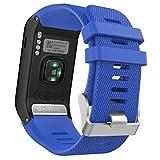 MoKo Garmin Vivoactive HR Cinturino, Braccialetto di ricambio in Silicone per Garmin Vivoactive HR Smartwatch GPS, Blu Royal
