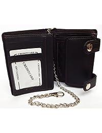 Cartera billetera, motorista billetera, cadena billetera, tarjetero, monedero hombre. cuero de imitación para.