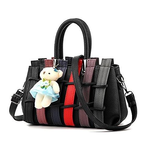 Magic Zone Frauen Handtaschen Farbband Top-Griff Tote Damen Taschen