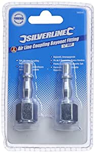 Silverline 583243 Air Line Coupling Bayonet Female Thread 1/4-inch BSP - Pack of 2