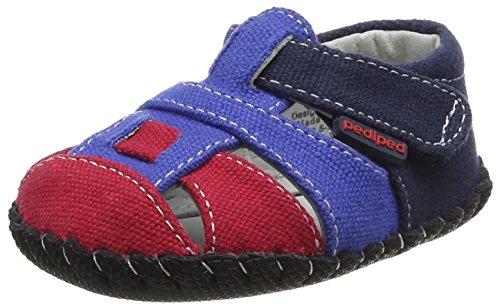 pediped Baby, Jungen Harvey Lauflernschuhe, Blue (Navy Red), 0-6 Monate (Pedipeds Baby Schuhe)